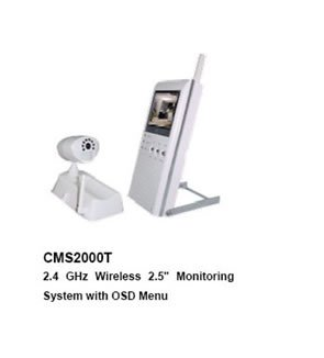 "2.4 GHz Wireless 2.5"" Color LCD Baby Monitor/KIT (one camera+one 2.5"" LCD palm monitor),"