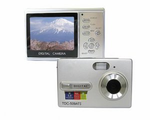 "5.0 Mega Pixels Digital Camera with 2.4""LCD (TDC-509AT1), Digital Cameras, Electronics"