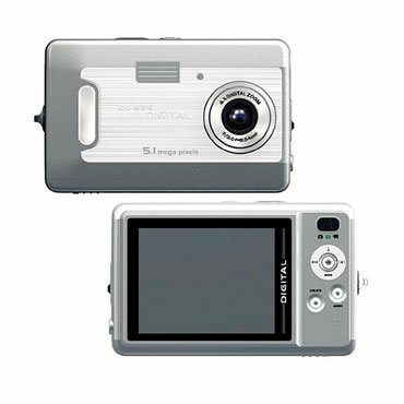 "5.0 Mega Pixels Digital Camera with 2.5""LCD (TDC-535C), Digital Cameras, Electronics"
