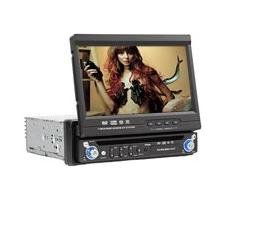 "One-Din 7"" LCD and Car DVD Player with fully automatic motorized TFT LCD"