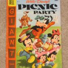 Walt Disney&#39;s Picnic Party # 8 Dell Giant 1957 Carl Barks art Nice VG+ Copy!