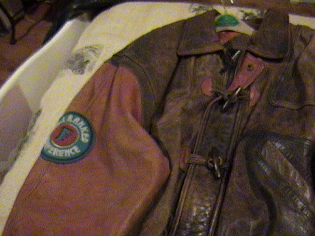 Football Leather Jacket.