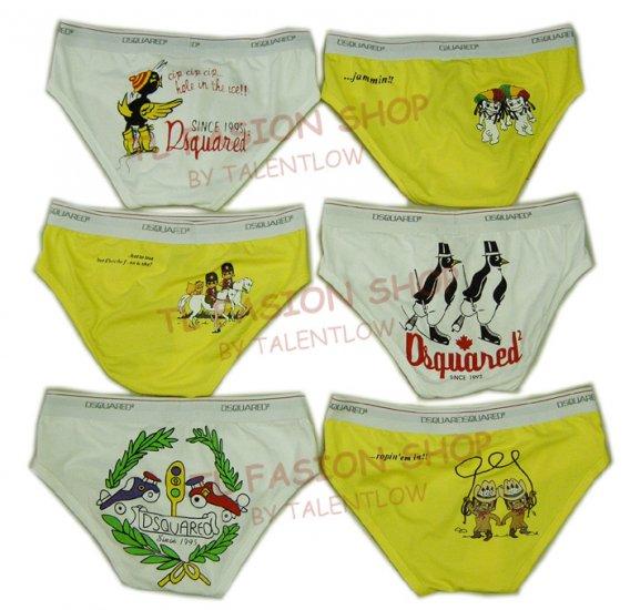 Lot of 6 pcs 09 DSQUARED D2 Man's boxers/briefs Underwear pack No 18