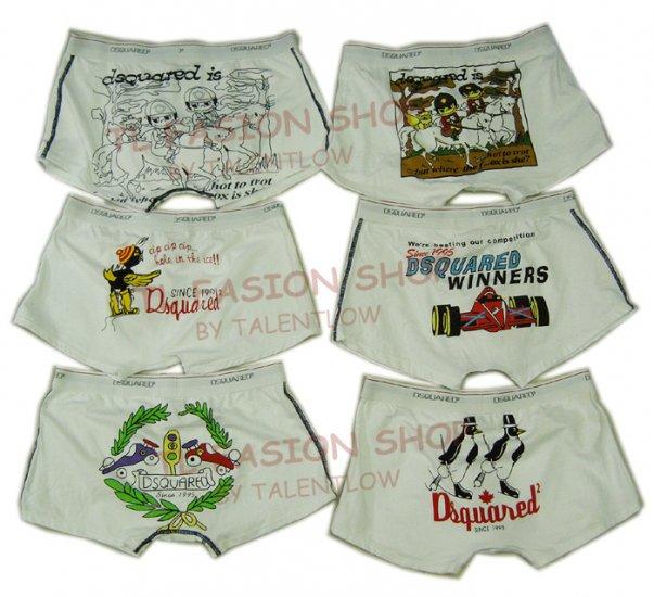 Lot of 6 pcs 09 DSQUARED D2 Man's boxers/briefs Underwear pack No 20