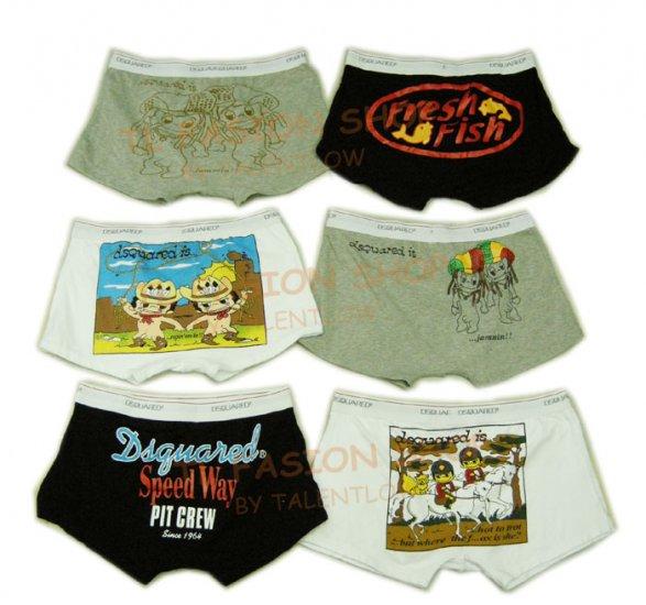 Lot of 6 pcs 09 DSQUARED D2 Man's boxers/briefs Underwear pack No 21