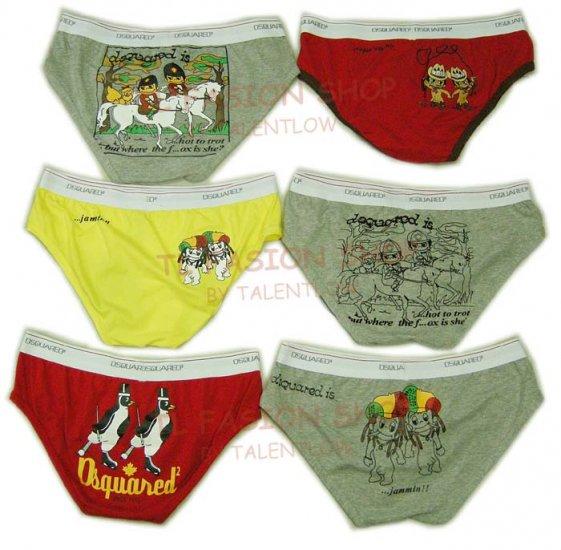 Lot of 6 pcs 09 DSQUARED D2 Man's boxers/briefs Underwear pack No 24