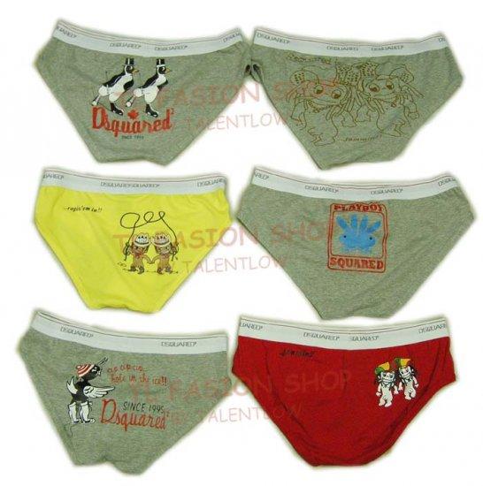 Lot of 6 pcs 09 DSQUARED D2 Man's boxers/briefs Underwear pack No 25
