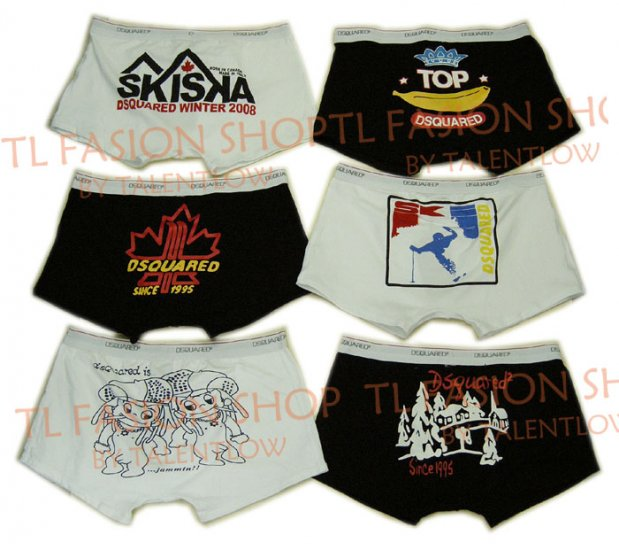 Lot of 6 pcs 09 DSQUARED D2 Man's boxers/briefs Underwear pack No 27