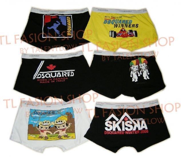 Lot of 6 pcs 09 DSQUARED D2 Man's boxers/briefs Underwear pack No 28