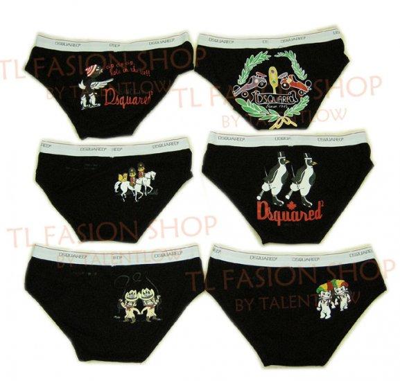Lot of 6 pcs 09 DSQUARED D2 Man's boxers/briefs Underwear pack No 29