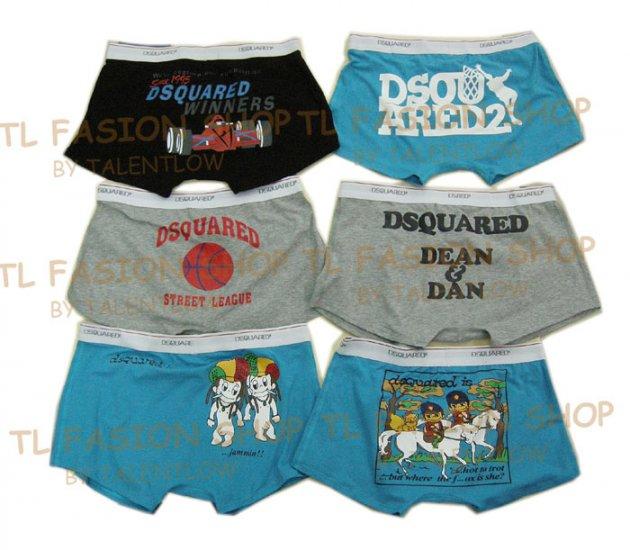 Lot of 6 pcs 09 DSQUARED D2 Man's boxers/briefs Underwear pack No 30