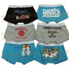 Lot of 6 pcs 09 DSQUARED D2 Man's boxers/briefs Underwear pack No 30