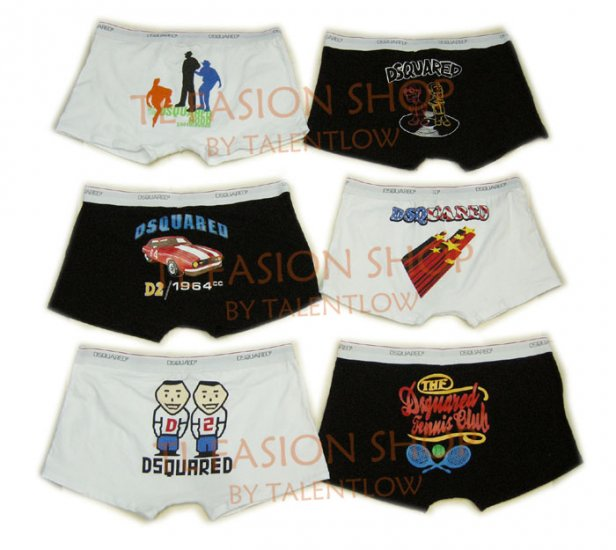 Lot of 6 pcs 09 DSQUARED D2 Man's boxers/briefs Underwear pack No 33