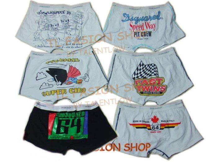 Lot of 6 pcs 09 DSQUARED D2 Man's boxers/briefs Underwear pack No 7