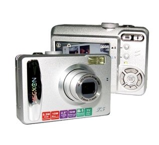 2.5-inch LCD, Optical Zoom, CCD 5.3M Pixels Sensor, SD Slot