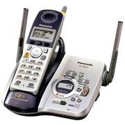 Panasonic KXTG5431S 5.8 GHz FHSS GigaRange Digital Cordless Phone with Answering System
