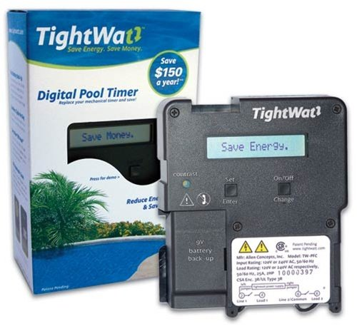 TightWatt TW-PFC Digital Pool Timer for Single-Speed Pool Pumps