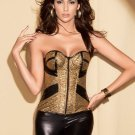 Gold Boned Lace Up Corset