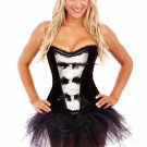 Black Feather Burlesque Corset