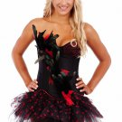 Burlesque Feathers, Corset, Skirt