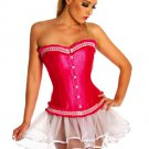 Pink Boned Lace Up Corset