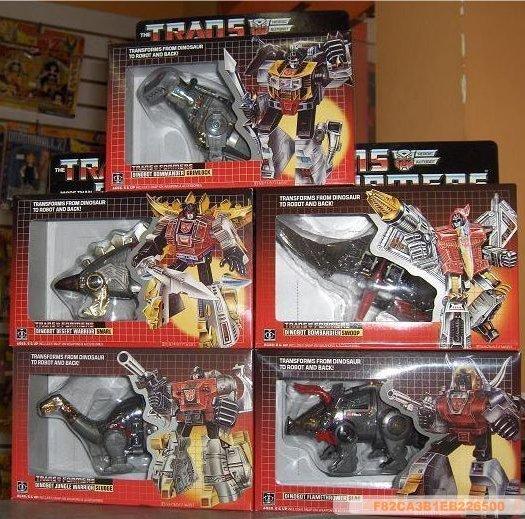 Transformers G1 X5 Grimlock SNARL SLAG SWOO  F