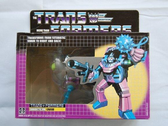 Transformers G1 Sharkticon GNAW Reissue KO Brand New M