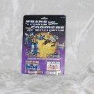 Transformers G1 Clear LASERBEAK & FRENZY Reissue KO N
