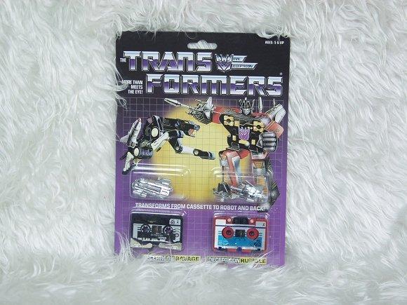 Transformers G1 RAVAGE & RUMBLE Reissue KO O