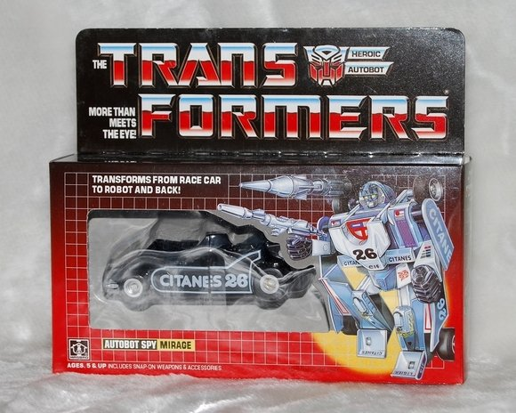 Transformers G1 Black Mirage Reissue KO Brand New W
