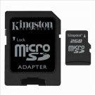 Kingston 2GB MicroSD Flash Card w/ SD Adapter Model SDC/2GB Set of 2 + DMC2