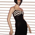EYE CATCHING BLACK AND WHITE BANDAGE DRESS SIZE SMALL 2- 4