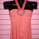 CLASSY CORAL HALTER TOP SIZE  MED 6 - 8
