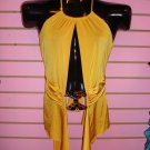 SEXY YELLOW CLUBBING TOP SIZE SMALL 2 - 4