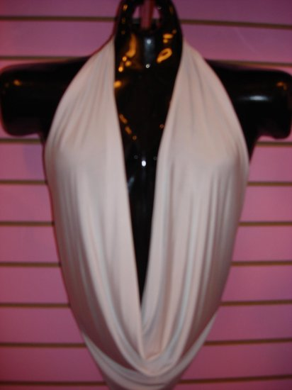 HOT WHITE CLEAVAGE TOP SIZE LARGE 10-12