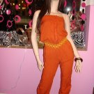 JAZZY RUST COTTON JUMPSUIT SIZE SMALL