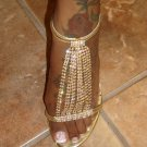 Sexy Gold Rhinestone Heel 7 1/2