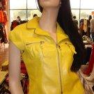 Yellow Crop Jacket  L