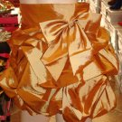 Gold Ruffle Mini Skirt  L