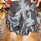 Gray  Ruffle Mini Skirt  M