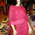 Hot Pink Belted Sweater Dress One Size