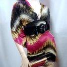 Pink Multi Kimono Sleeve Dress size Medium