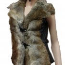 Jazzy Faux Fur Vest Small