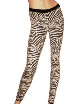 Zebra Sequin Legging Size Small