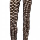 Black and Gold Fishnet Leggings Medium