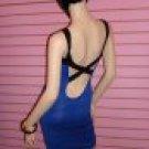 Blue and Black Bandage Dress Size Medium