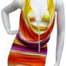 Orange Multi Print Dress Small
