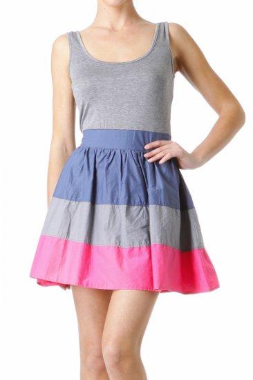 2 Fer Pink Multi Dress Large