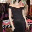 SEXY SHIMMERY BLACK BANDAGE DRESS SIZE Large 10-12