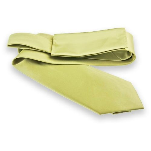 Celery Green Solid Color Necktie and Pocket Square Set